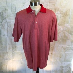 NWT Nicklaus Golf red striped polo shirt